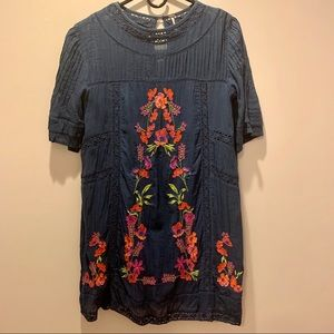 Free People Floral Navy Dress S